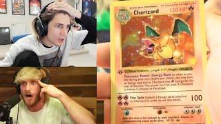 xQc Reacts to Logan Paul $1,000,000 1st Edition Pokemon Box Opening!