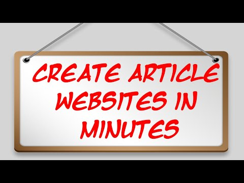 Create Article websites in minutes
