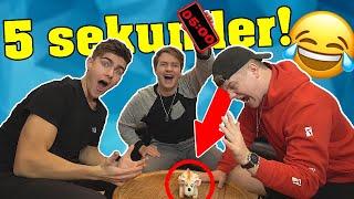 5 SEKUNDER CHALLENGE!! m. Gutterne