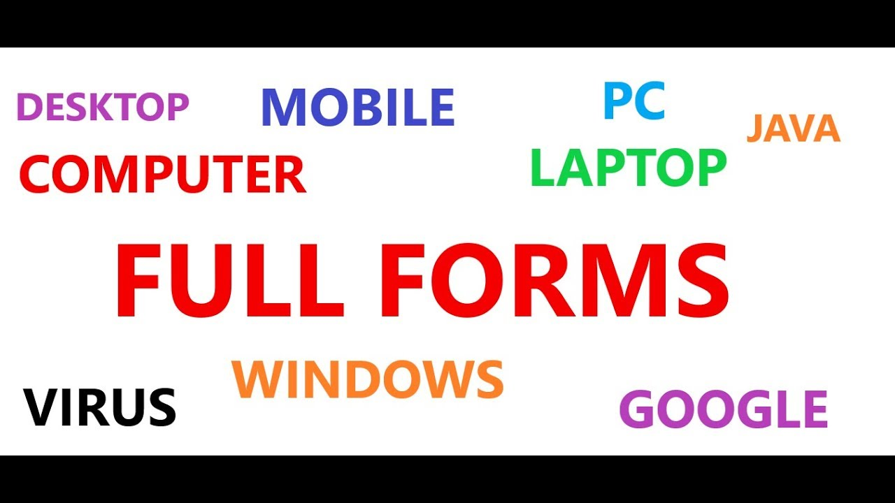 Full Form of Computer related word - YouTube