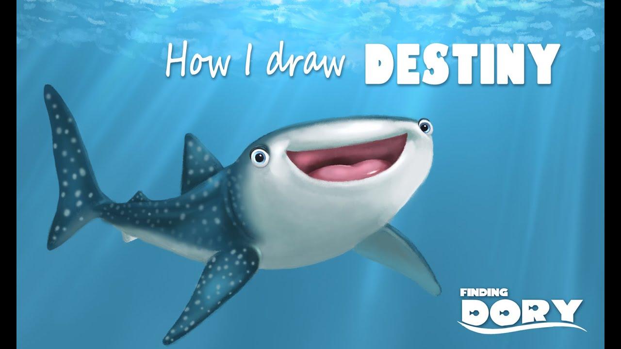 finding dory how i draw destiny fairyworld84 youtube