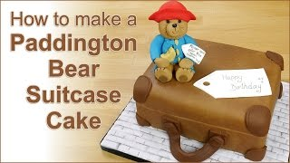 Paddington Bear Suitcase Cake