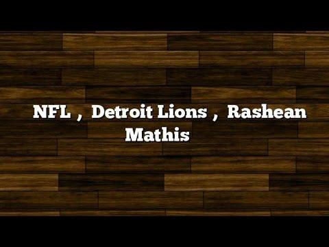 NFL, Detroit Lions, Rashean Mathis