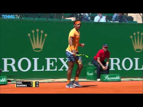 Nadal Speeds Shot Past Wawrinka Hot Shot Monte Carlo 2016