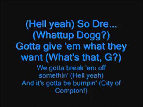 Snoop Dogg Ft Dr Dre  G Thang Lyrics