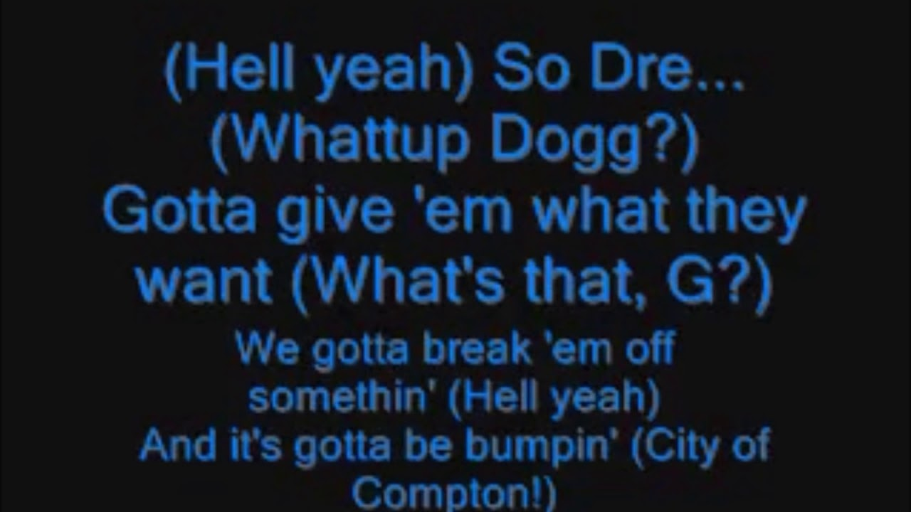 Snoop dog lyric
