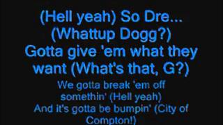 Snoop Dogg Ft. Dr. Dre - G Thang Lyrics