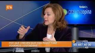 C's - Carina Mejías en 'Catalunya Opina' de Badalona Tv 09/03/2015