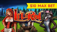 Li'l Red Slot - $10 Bet - NICE SESSION & Bonus!