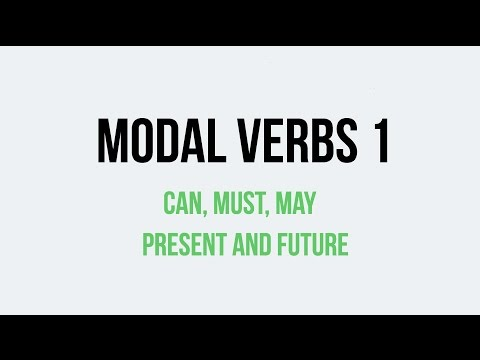 Modal verbs. Can, must, may. Present and Future