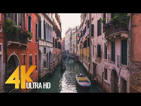 4K Documentary Film - Venice Walking Tour - 1 HR