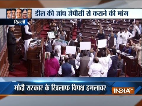 Winter Session: Congress gives business suspension notice in Rajya Sabha to discuss Rafale deal