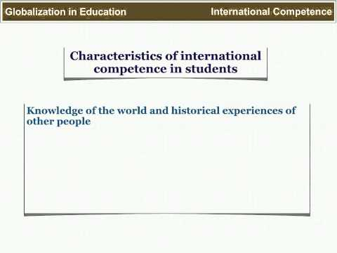 Globalization in Education: The Classroom as a Global Community