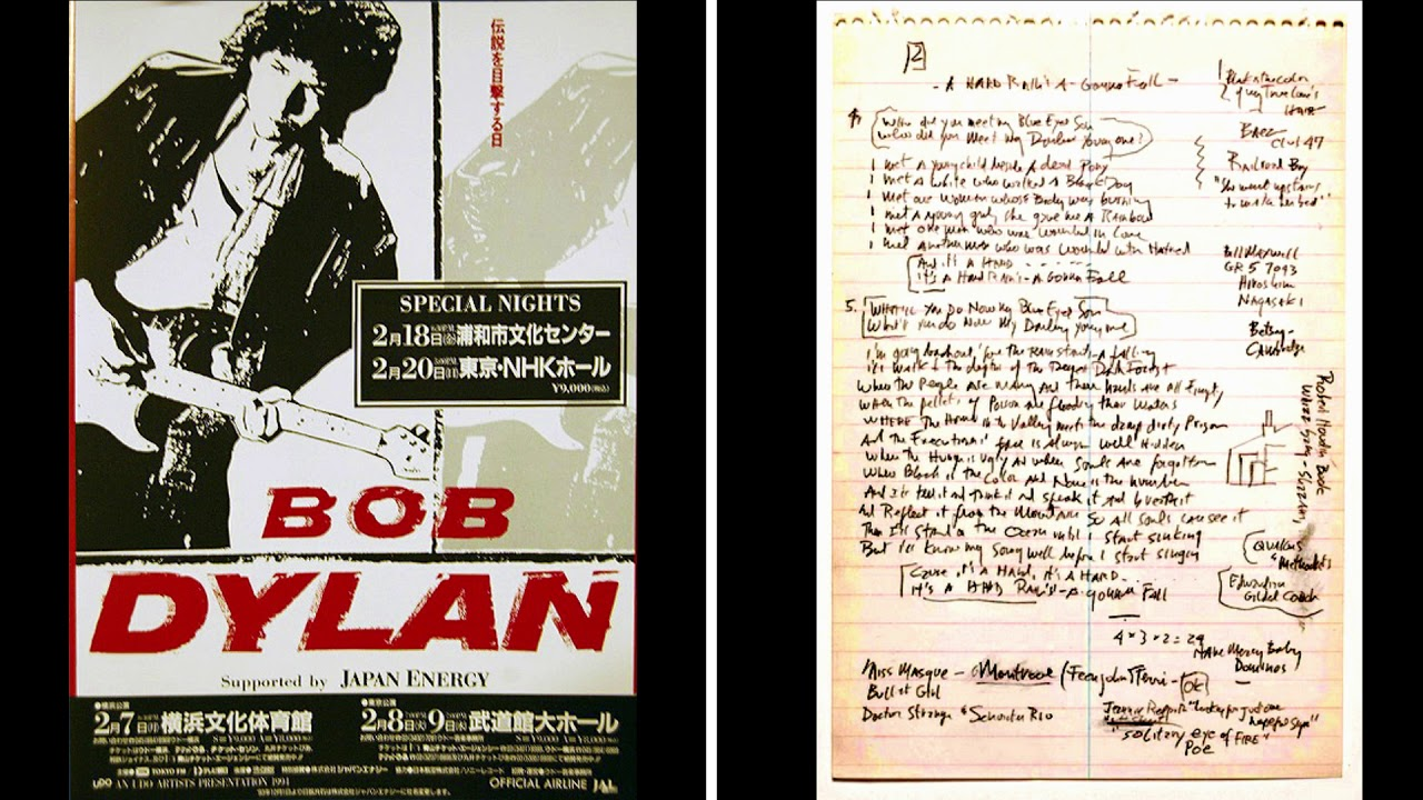 Download Bob Dylan - A Hard Rain's A-Gonna Fall (Tokyo 1994)