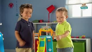 Autópálya gyerekeknek Vroom Planet Mega Jump Smoby