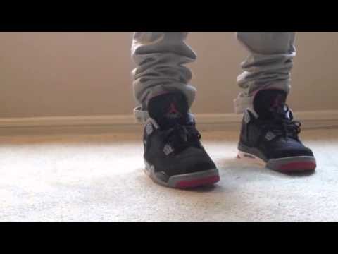 official photos d87f0 8eb7c Jordan Bred 4 s (ON FEET)