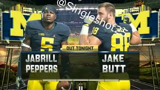 Did you know Jabrill Peppers didn't play in the Orange Bowl vs FSU?
