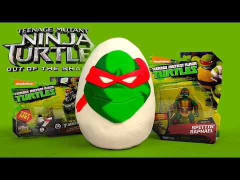 Teenage Mutant Ninja Turtles 2 Movie Toys Play-Doh Surprise Egg Out of the Shadows by KidCity