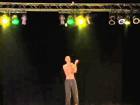 Luke Burrage, Five Ball Juggling, EJC 2003