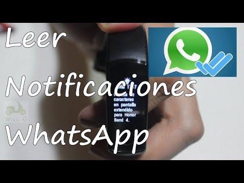 Leer Notificaciones Whatsapp M3 Mi Band 3 Amazfit Bip Honor Band 3 Honor Band 4 Notifications