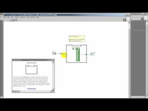 LabVIEW FPGA: Bar graph decoder -- 3-to-8 decoder