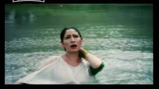 saima wearing thin dress in water