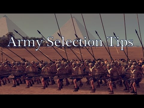 Total War Rome 2 Army Selection Tips