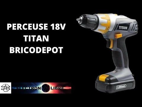 Perceuse 18 V Titan Bricodepot