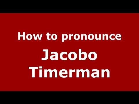 How to pronounce Jacobo Timerman (Spanish/Argentina) - PronounceNames.com
