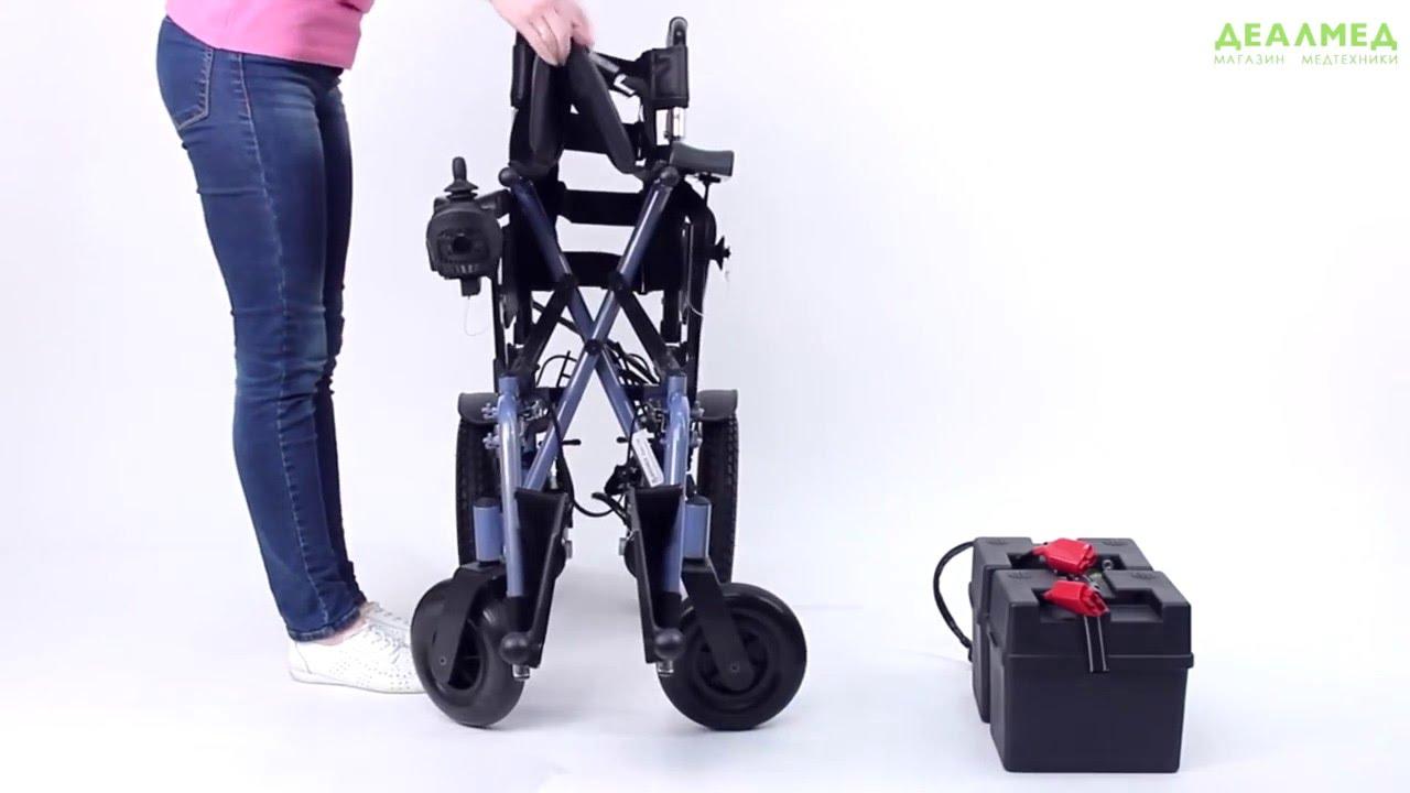 Инвалидная коляска с электроприводом и вертикализатором Доброта .