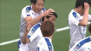 コーナーキックから鈴木 義宜(大分)へボールが渡り、左足で先制ゴール...