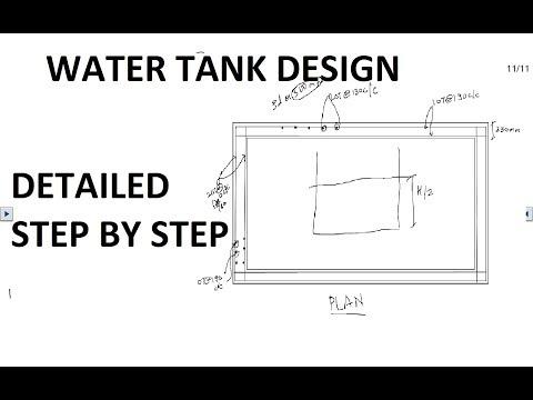 Eng/Hindi] RCC DESIGN OF RECTANGULAR WATER TANK | WSM | Detailed