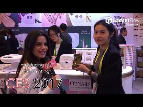 O'2 Mobile Nail Printer - #GadgetFlow Showcase #CES2017