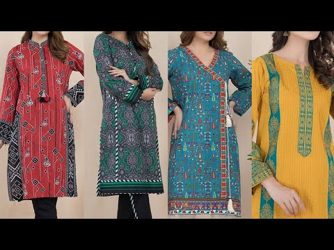 Very Stylis Kurta Designing Ideas With Best Colour Combination & Patch Designing