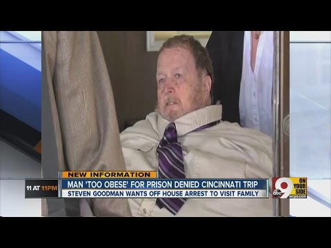 Man 'too obese' for prison denied Cincinnati trip