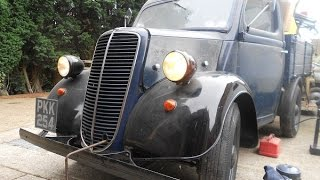 1954 Fordson E83W Pick up truck - Sitting since 1982 - Seized solid - First start in 27 years!