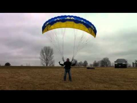 High Wind Kiting with speed flying wing