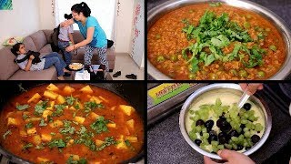 Indian Mom Afternoon to Dinner Vlog | Indian Dinner Routine | Soya Keema | Fruit Custard |AlooPaneer