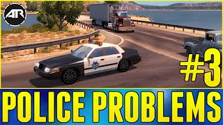 American Truck Simulator : POLICE PROBLEMS!!! (Career Let