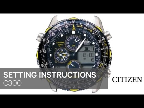 cdaba2f9b49 OFFICIAL CITIZEN C300 Setting Instruction - YouTube