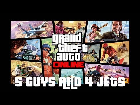 GTA ONLINE: 5 Guys and 4 Jets, someone is the punchline!