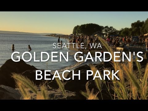 Golden Gardens Beach Park Seattle Wa Youtube