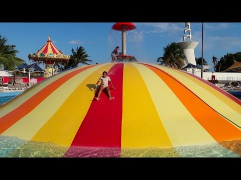 Thumbnail: Crazy Balloon Water Slide - Water Park Fair Playground - Family Fun For Kids