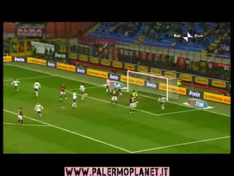 Milan Palermo 0 - 2 13/12/2009 Sintesi highlights 16° giornata HD HQ