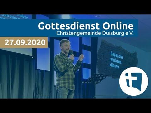 Christengemeinde Duisburg e.V. // Online-Gottesdienst // 27.09.2020