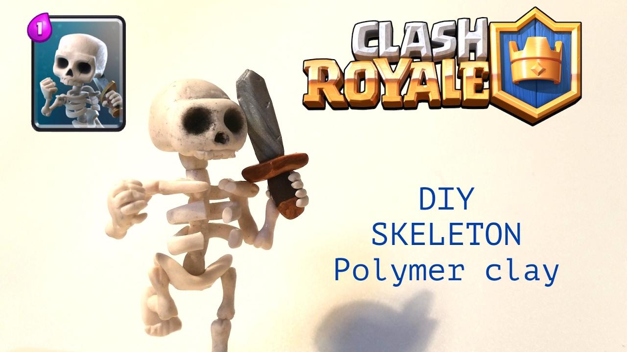 DIY Clash Royale Skeleton - Polymer clay tutorial 2017-01-25
