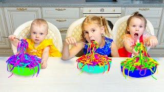Five Kids Noodles Song Nursery Rhymes & Children's Songs