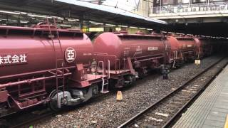 EH500金太郎牽引、東邦亜鉛専用タキ1200形のJR貨物列車