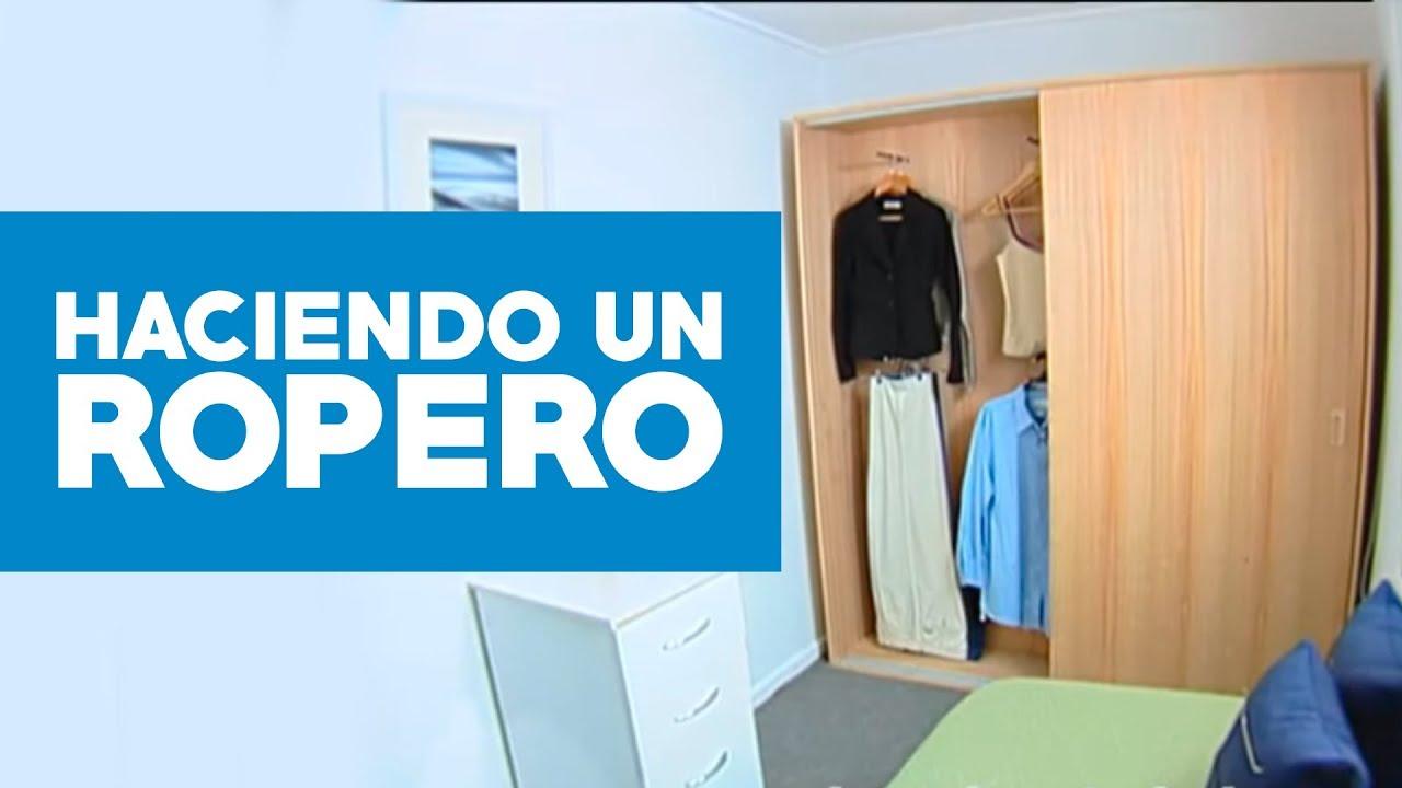 C mo hacer un ropero youtube - Como hacer un closet en una habitacion ...