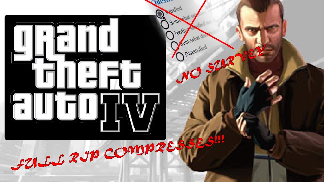Download GTA 4 PC Free Full RIP COMPRESSED! 100% WORKED No Survey 2016